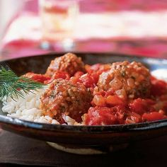 Bulgur and Lamb Meatballs in Tomato Sauce by Cooking Light