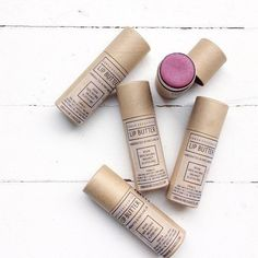 0.5oz. BEET LIP BUTTER in a paperboard tube  $6 FLAT RATE U.S. SHIPPING. No code! No minimum! Happy shopping.  Our luxurious lip butter goes on