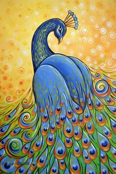 Peacock Art...Majestic By Artist Amy Giacomelli...