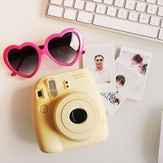 @luenegrafik |  hello yellow camera #Instax #InstaxMini8