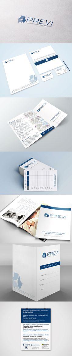 Diseño de imagen corporativa y desarrollo de branding para centro Previ #logotipo #imagencorporativa #branding #diseñografico #papeleriacorporativa