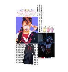 """Sukeban"" by kai-vienna ❤ liked on Polyvore featuring Orla Kiely, badass, girl, schoolgirl, sukeban, gang, sailor fuku, anime, japanese and school"