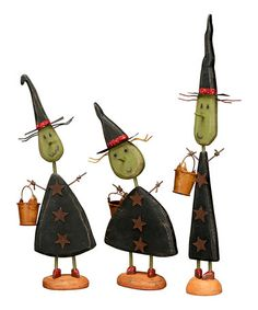 Take a look at this Small Standing Witch Figurine Set by Primitives by Kathy on #zulily today!