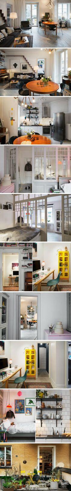37 ㎡北欧小户型公寓,跳跃的色彩温暖了整个家。