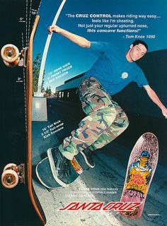 Santa Cruz Tom Knox Ad, 1990 by daVsen, via Flickr Skateboard Mag, Skateboard Photos, Skate Photos, Huf Skate, Skate Surf, Old School Skateboards, Vintage Skateboards, Bmx, Thrasher Magazine
