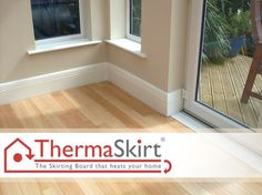 ThermaSkirt - heated skirting boards via http://www.wholebuild.co.uk/microsite/heated-skirting-board
