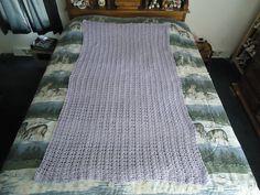Lilac Hand Crocheted Trellis Afghan Blanket by CraftsbyCummins