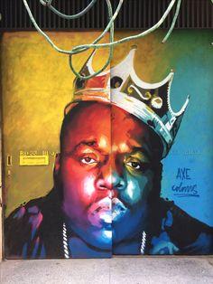 Notorious B.I.G. - painted door - Barcelona