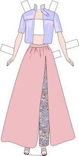 Muneca barbie vestidos para recortar