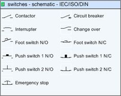 iec/iso/din schematic switches electrical symbols, free images, stencils,  wire