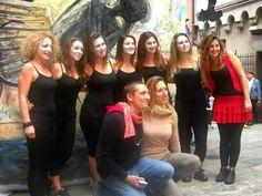 26 / 10 2013 installazione artistica 365 suicidi atto primo, con il corpo di ballo della scuola LA PUNTA di Genova