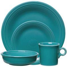 Fiesta® Dinnerware Collection in Turquoise - BedBathandBeyond.ca