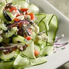 "Mediterranean Greek Salad I ""This is absolutely the best Greek salad I've had outside of Greece! Refreshing and beautiful!"""