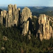 Perspective. The Cathedral Spires in the Black Hills of South Dakota are just one of innumerable formations across the planet that speak to the Earth's ancient history.