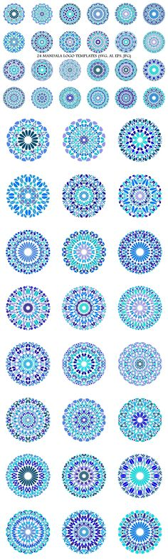 24 Floral Mandala Logo Templates #spiritual #MandalaDesign #lightbluegraphics #shop #geometry #MandalaLogoTemplate #mandalalogos #AbstractLogoTemplate #MandalaLogo #mandala #decoration #LogoTemplate #LogoDesignTemplates #MandalaGraphics #GeometricalLogo #mandalas #MandalaArtwork Mandala Logo, Mandala Design, Best Logo Design, Graphic Design, Floral Logo, Abstract Logo, Logo Background, Pattern And Decoration, Logo Templates