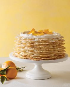 A lemon icebox cake, with its layers of scalloped lemon cookies and honey mascarpone cream, appeals to fickle kids and grown-up foodies alike.