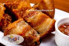 Bagnet-Best served with a dipping sauce of Bagoong Isda.