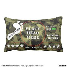 Field Marshall General Snoring ON mode Lumbar Pillow