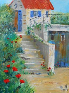 peintre sermet peinture paysages provence auvergne fleurs huile aquarelle dessins. Black Bedroom Furniture Sets. Home Design Ideas