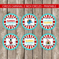 Vintage Carnival Cupcake Toppers Party by LittleMsShutterbug