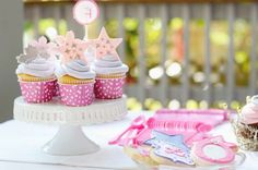 Use fancy cake plates and tiers for the treats. Royal Princess Party Birthday Party Ideas | Photo 13 of 40 | Catch My Party