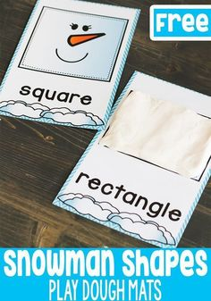 Snowman shape play dough mats are a great addition to your play dough center for winter! Have the kids fill or outline the shapes with play dough for a fun fine-motor winter math activity! Learning Shapes, Fun Learning, Learning Activities, Language Activities, Learning Spanish, Winter Activities For Kids, Sorting Activities, Preschool Winter, Shape Activities