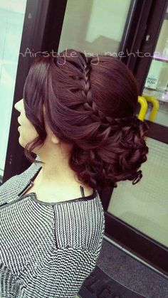 Best Prom Braided Hairstyles Prom Hairstyle for Long Hair Updos Braided (Prom Hair Hairstyle for Long Hair Updos Braided (Prom Hair Prom Hairstyles For Long Hair, Fancy Hairstyles, Braided Hairstyles, Japanese Hairstyles, Asian Hairstyles, Modern Hairstyles, Updo Hairstyle, Protective Hairstyles, Wedding Hairstyles