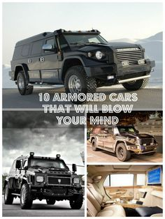 10 Armored Cars That Will Blow Your Mind - meet Arnold Schwarzenegger's dream cars! #spon #autoawesome
