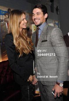 David Gandy with Elle Macpherson