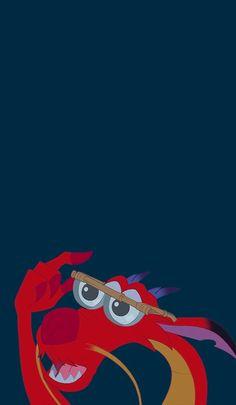 Papel de Parede Mushu Disney Mulan para iPhone Tumblr