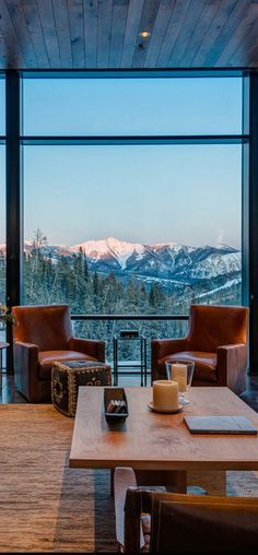I would like this for a breakfast nook, leather chairs, and a view!
