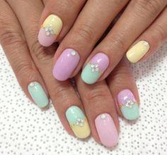 easter eggs nails | Easter egg nails