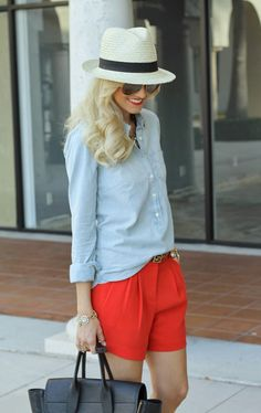 Red and Chambray...