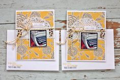 Mish Mash | handmade Just a Note cards #layered