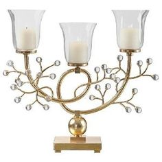 Preview Bede Metallic Gold Candelabra by ThisEverythinglive