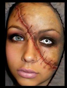 Split face makeup PRETTY NEAT LOOKIN