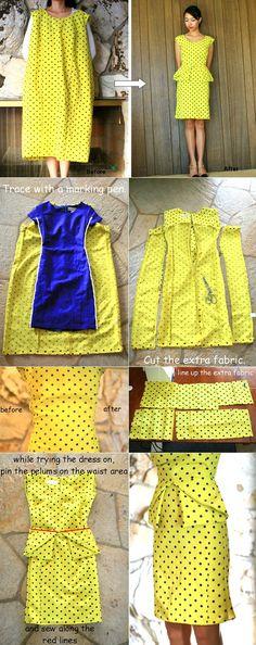 Origami Peplum Dress –  DIY