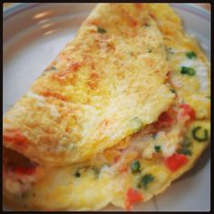 Cream cheese & lox omelette. Satiate your bagels & lox craving for a fraction of the carbs and calories