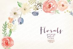 Welcome to **GrafikBoutique**! This set of high quality hand painted watercolor flower images may be used for: - printed paper stationery (tags, wrapping paper, packaging, invitations,