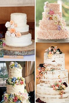 Wedding Cakes For The Perfect Country Reception ❤ Consider 4 concepts of rustic wedding cakes: classic rustic, naked, buttercream and burlap. See more: http://www.weddingforward.com/rustic-wedding-cakes/