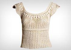 Fácil de fazer, a blusa de crochê é perfeita para os dias mais quentes