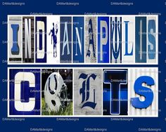 NFL Indianapolis Colts Framed Alphabet Photo Art by DAMartndesign, $39.00