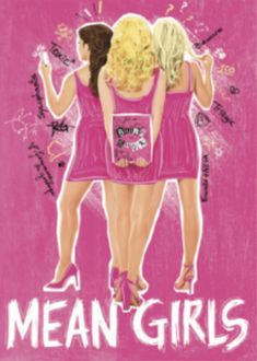 """This Official Mean Girls magnet is a great souvenir to add to your refrigerator. It contains the show's logo as well as the phrase """"The new face of evil is, like, REALLY PRETTY. Broadway Plays, Broadway Theatre, Musical Theatre, Broadway Posters, Dear Evan Hansen, Cursed Child, Girly Things, Girly Stuff, Les Miserables"""