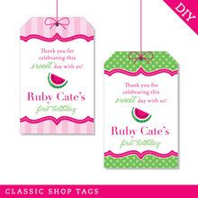 Watermelon Party Favor Tags (Digital File)