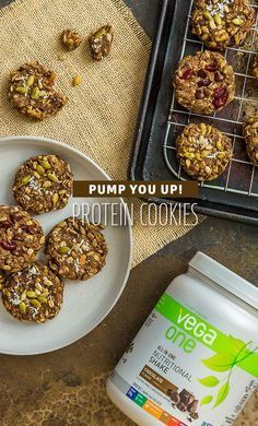 You really cant go wrong with these cookies. Weve taken a basic oatmeal raisin breakfast cookie, and pumped it up with Vega One for the ultimate protein cookies!