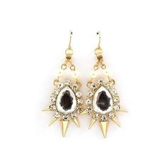 Flirty Edge Pearl & Spike Crystal Earrings  ||  Our Flirty Edge Pearl & Spike Crystal Earrings is gold plated metal. Chandelier drop earrings featuring tear drop and stud crystals, faux pearls, and spikes https://www.mymallmetro.com/products/flirty-edge-pearl-spike-crystal-earrings?utm_campaign=crowdfire&utm_content=crowdfire&utm_medium=social&utm_source=pinterest