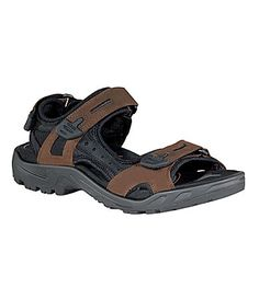 e11a78bfde8a Ecco Mens Yucatan Sandals Brown Sandals