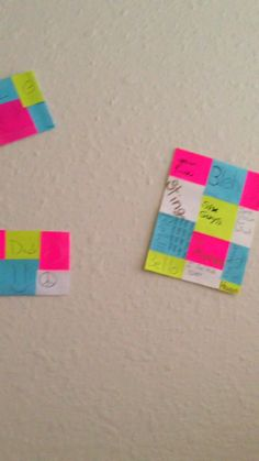 Sticky Note Wall Art