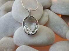 Quartz and Sterling silver pendant.
