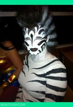 My styling zebra such a simple costume all you need is black and i made this costume and did the hairmakeup for a costume party at my school solutioingenieria Images